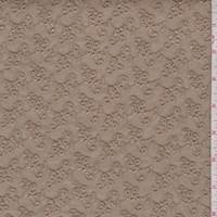 *1 7/8 YD PC--Light Brown Mini Floral Cluster Eyelet