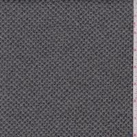 *3 3/8 YD PC--Nickel Grey Lattice Sweater Knit