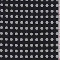 *1 7/8 YD PC--Black Dot Burnout Mesh