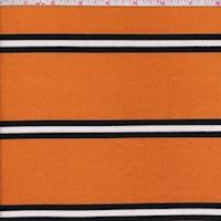 Orange Gold/Black Triple Stripe French Terry Knit