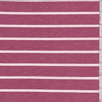 Heather Brick Stripe Double Brushed French Terry Knit