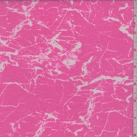 Neon Pink Crackle Double Brushed French Terry Knit