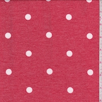 Heather Red Polka Dot Double Brushed French Terry Knit