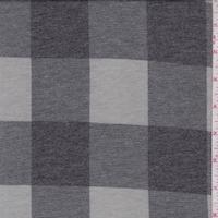 Grey/Slate Buffalo Plaid Double Brushed French Terry Knit