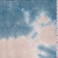 Cloud/Beige/Brown Multi Tie Dye Double Brushed Jersey Knit