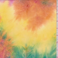Rainbow Multi Tie Dye Double Brushed Jersey Knit