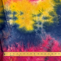 Magenta/Yellow/Royal Tie Dye Double Brushed Jersey Knit