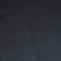 Classic Black Tubular Rib Knit