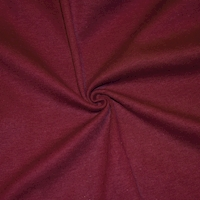 Bordeaux Red Tubular Rib Knit