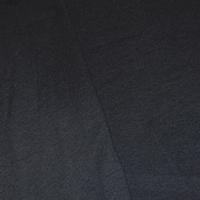Stark Black Tubular Rib Knit