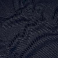 Midnight Navy Blue Tubular Rib Knit