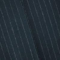 *3 7/8 YD PC--Black/Gray Stripe Wool Blend Stripe Jacketing