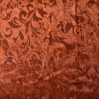 *2 YD PC--Sunset Orange Baroque Burnout Velvet Knit