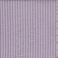 *2 1/2 YD PC--Lilac/White Cotton Stripe Seersucker