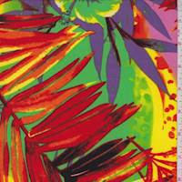 *3 YD PC--Red/Green Tropical Floral Activewear