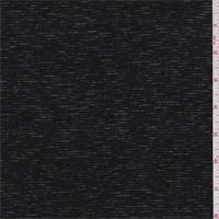 *2 1/4 YD PC--Sheer Black Stripe T-Shirt Knit