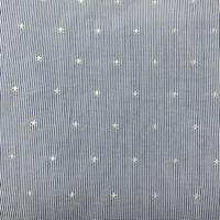Medium Blue/White Pinstripe/Star Cotton
