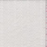 Cream Eyelet Deco Stripe Cotton