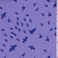 Lilac/Violet Flying Birds Print Cotton