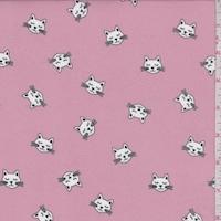 Blush Pink Kitty Double Brushed Jersey Knit