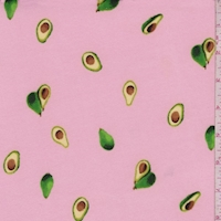 Creamy Pink Avocado Double Brushed Jersey Knit