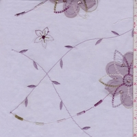 Lavender Embroidered Floral Lawn