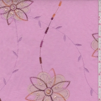 Hydrangea Pink Embroidered Floral Lawn