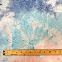 Aqua/Ocean Tie Dye Double Brushed Jersey Knit