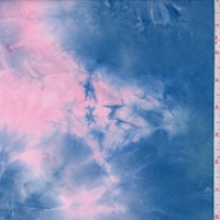 Pink/Blue/Yellow Tie Dye Double Brushed Jersey Knit