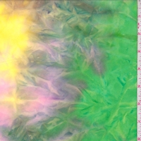 Lime/Neon Pink/Yellow Tie Dye Double Brushed Jersey Knit