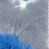 Ocean/Stone Grey Tie Dye Double Brushed Jersey Knit