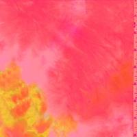 Neon Yellow/Orange/Pink Tie Dye Double Brushed Jersey Knit