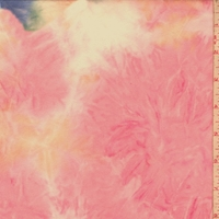 Orchid Pink/Yellow/Blue Tie Dye Double Brushed Jersey Knit