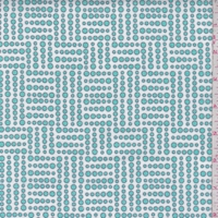 White/Seafoam Blue Geo Dot Cotton Flannel
