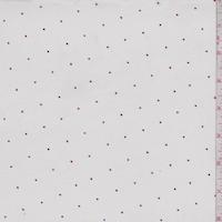White/Blue/Red Mini Hearts Print Cotton