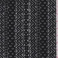 *1 YD PC--Black Stripe Lace