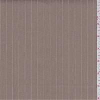 *3 1/8 YD PC--Khaki Tan Stripe Denim Look Suiting