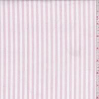 *3 1/4 YD PC--Soft Pink/White Stripe Cotton