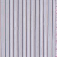 *3 YD PC--Light Grey/Pewter Stripe Shirting