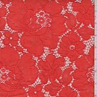 *3 YD PC--Bright Saffron Floral Lace