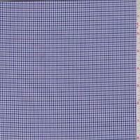 *1 1/8 YD PC--White/Lilac/Navy Mini Houndstooth Check Shirting