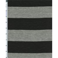 *1 1/2 YD PC--Gray/Black Stripe Jersey Knit