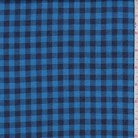 Bright Blue/Black Mini Check Flannel