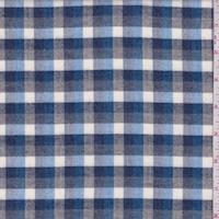Navy/Sky/White Check Flannel