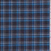 Black/Royal Plaid Flannel