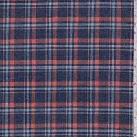 Navy/Orange/Blue Plaid Flannel