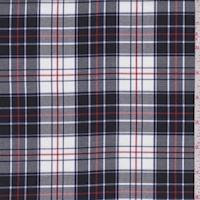 White/Black/Red Plaid Flannel