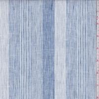 Navy/Blue Variety Stripe Linen Blend