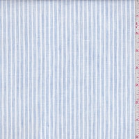 Pale Blue/White Stripe Linen Blend