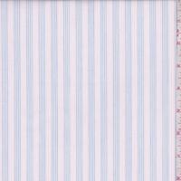 Blue/Pink/White Stripe Cotton Shirting